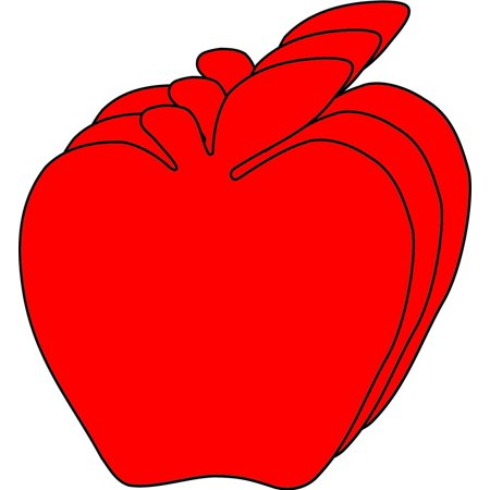 Small Single Color Cut-Out - Red Apple](Apple Cut Out)