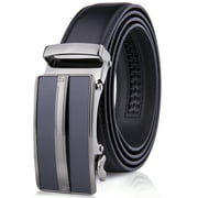 Microfiber Leather Mens Ratchet Belt Belts For Men Adjustable Automatic Buckle
