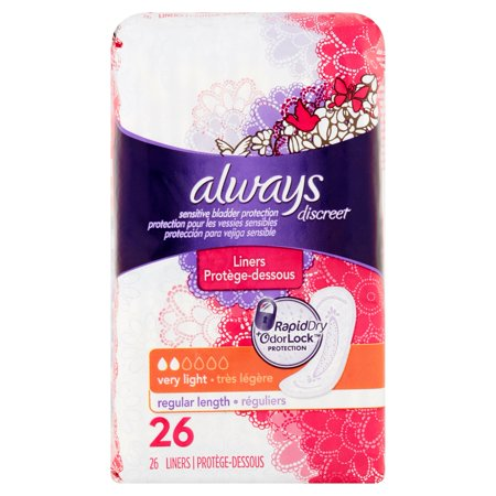 Always Discreet Incontinence Liners Very Light Long