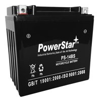 PowerStar PS-14BS-22 YTX14-BS Battery for Honda FourTrax TRX 300 350 450 500 650 King Quad Raptor