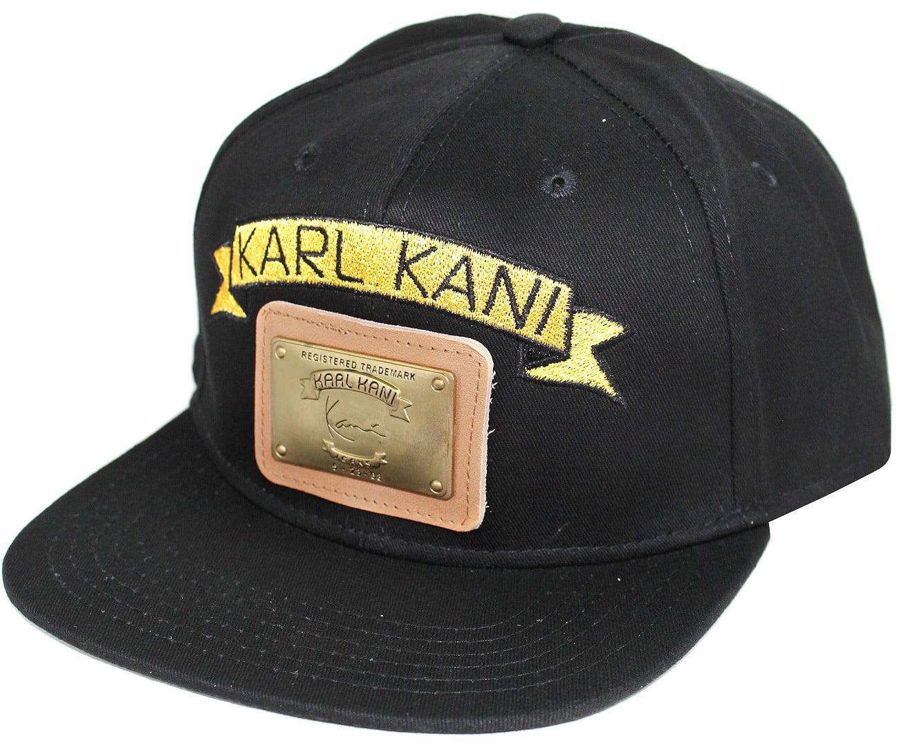 e59a30759c2b8 Karl Kani - Karl Kani Gold Plate Snapback Embroidered Hat Black White Red  Tan - Walmart.com