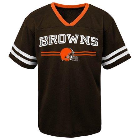 watch 56e14 c8ead Newborn & Infant Brown Cleveland Browns Mesh Jersey T-Shirt ...