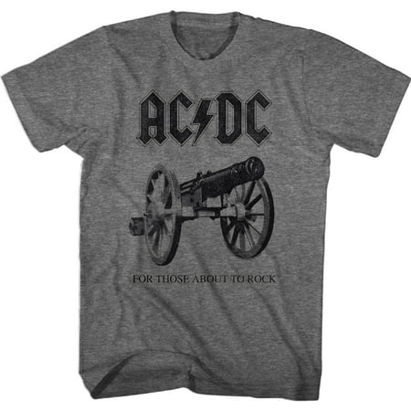 AC/DC Hard Rock Band Music Group About To Rock Album Adult Grey T-Shirt Tee - image 1 of 1