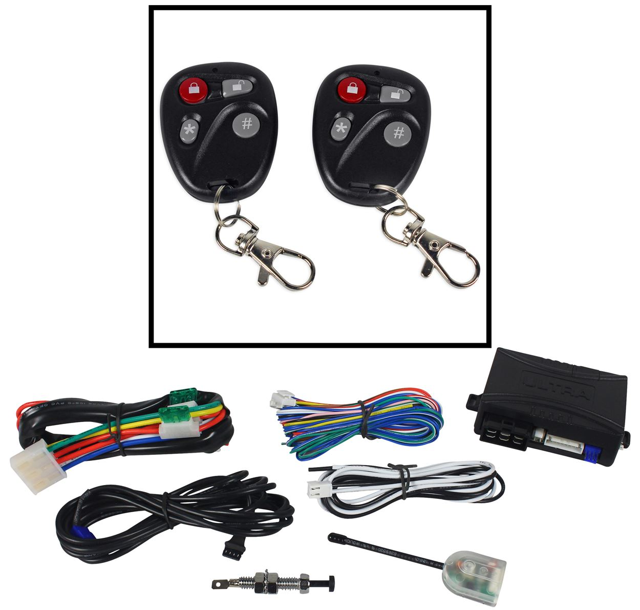 Ultrastart U1272-DP Remote Starter Car Start System w Keyless Entry (2) Remotes by ULTRASTART