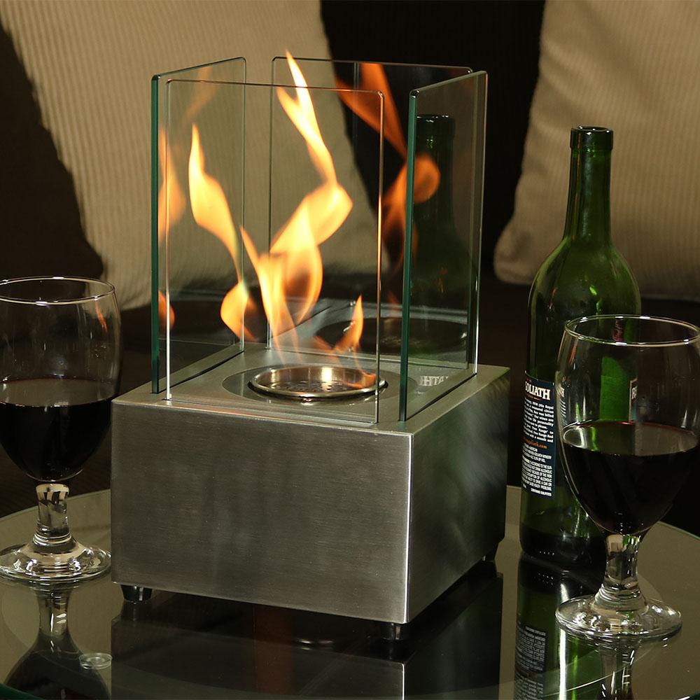 Sunnydaze Ventless Tabletop Fireplace Cubic Bio Ethanol – Options Available