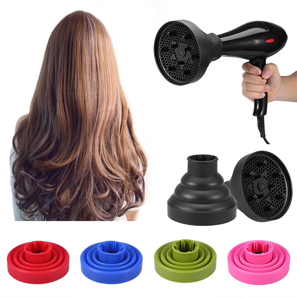 Tbest 5Colors Foldable Folding Hairdryer Hair Blower Diffuser Cover Styling Hairdressing Tool        ,Hair Dryer Cover, Hairdressing Tool