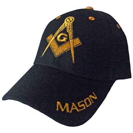 Front Bumper Emblem - Mason Hat with Masonic Lodge Emblem Incl Bumper Sticker (Black)