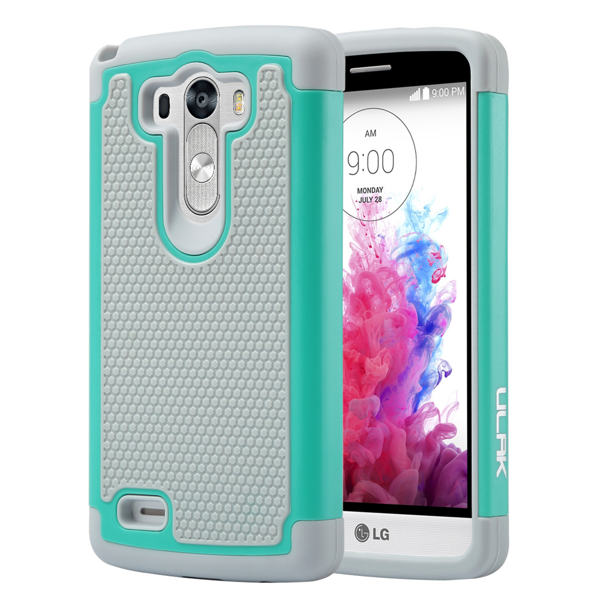 LG G3 Case,ULAK Dual Layer Rugged Hard Hybrid Protective Case for LG G3 (AT&T D850,T-moble D851)
