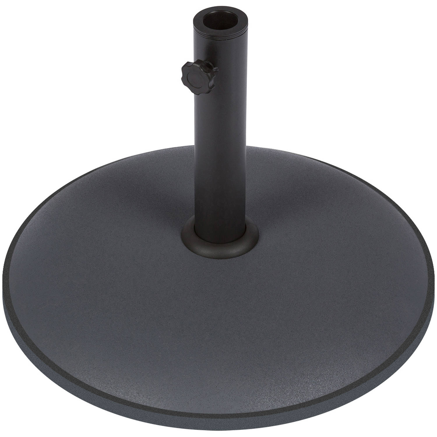 Sturdy Cement Umbrella Base By Trademark Innovations, Gray
