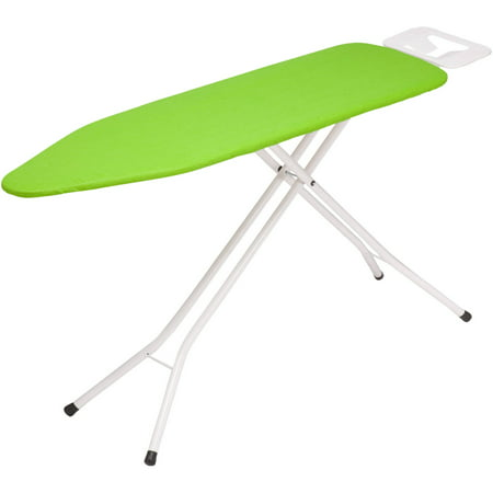 - Honey Can Do Ironing Board with 4-Leg Stand and Iron Rest, Lime Green