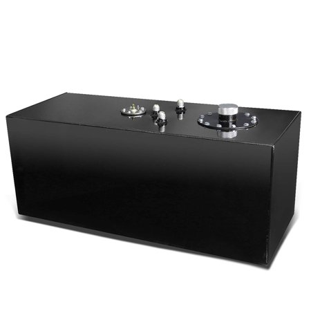 19-Gallon Top-Feed Aluminum Fuel Cell Gas Tank w/Level Sender & Cap (Black)