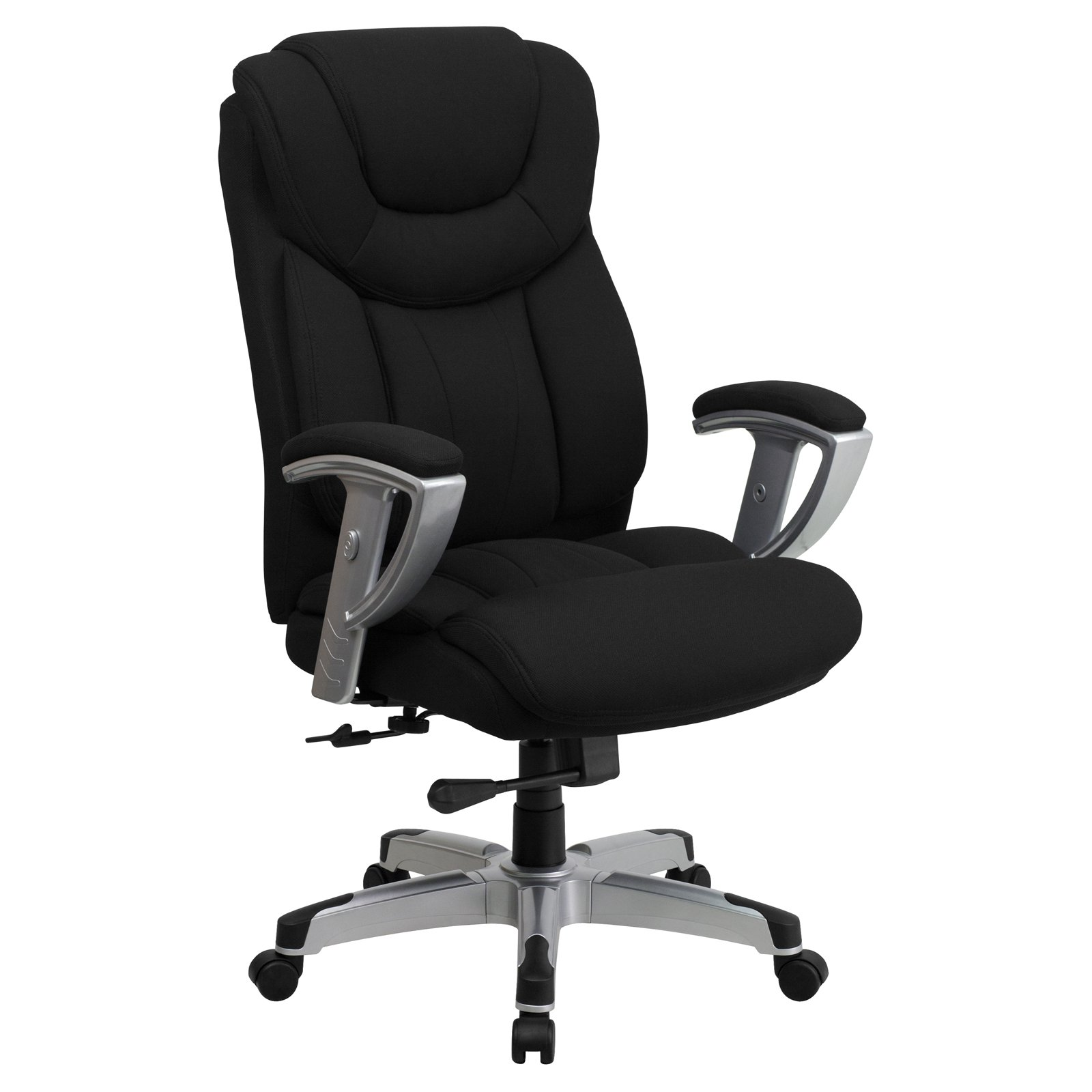 Flash Furniture HERCULES Series 400-Pound Capacity Big & Tall Black Fabric Executive Swivel Office Chair with Height and Width Adjustable Arms