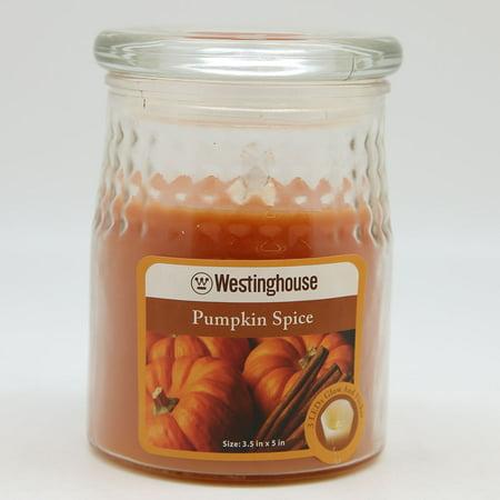 Westinghouse W375866 3 LED Pumpkin Spice Scented Wax Jar Flameless