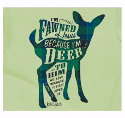 Tee Shirt-Fawned (Youth)-Medium-Mint Green