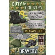 Cardstock Stickers-Military Life