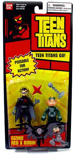 Teen Titans Go! Gizmo & Red X Robin Action Figure 2-Pack by
