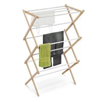 Honey-Can-Do DRY-01111 Wooden Clothes-Drying Rack White/Natural