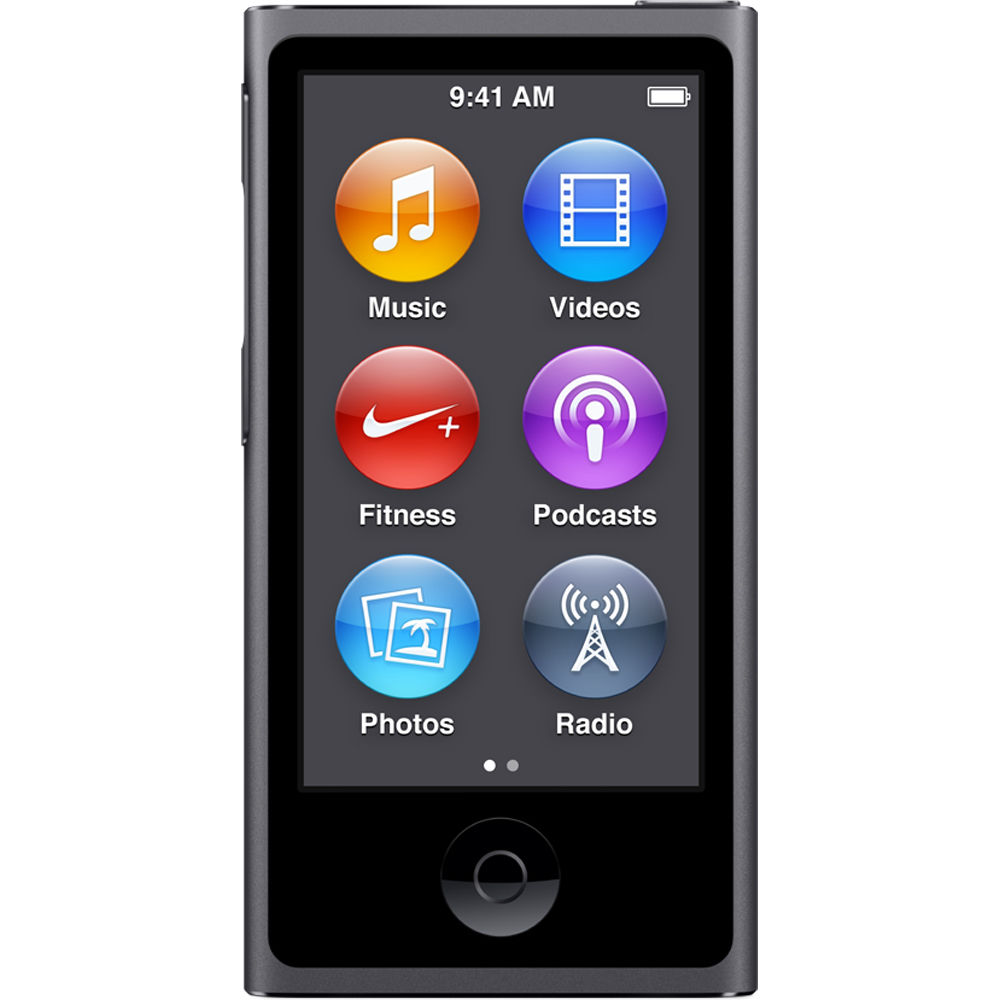 Apple iPod Nano 7th Generation 16GB Space Gray, Pre-owned...