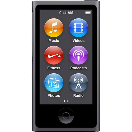Apple iPod Nano 8th Generation (16GB) Space Gray Bundle New in Plain White (Lowest Price For Ipod Nano 7th Generation)