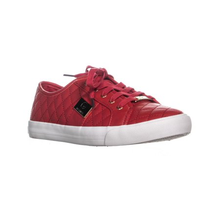 Womens G by Guess Backer2 Quilted Fashion Sneakers, Medium Red