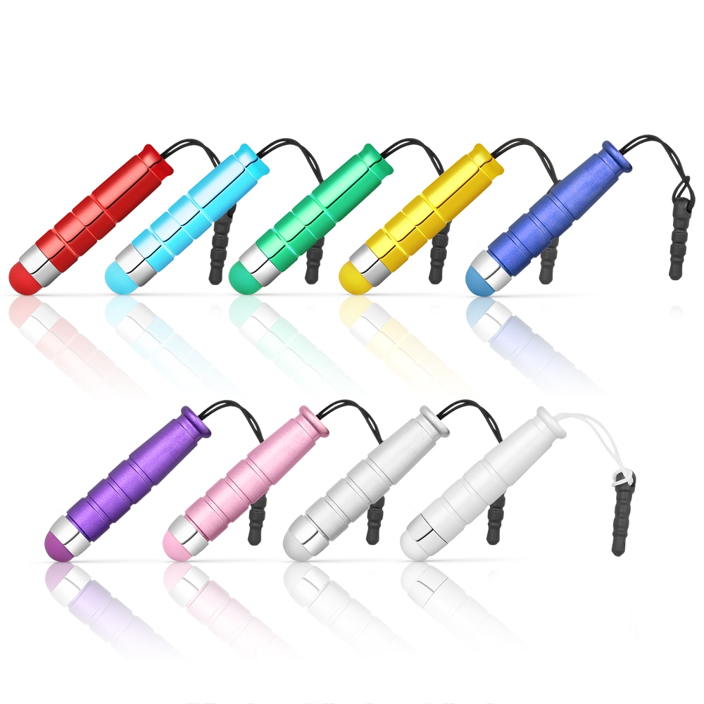 Chromo Inc Vibrant Color Coded Matching Tips Mini Capacitative Stylus Set for the iPhone iPad, iPod, Galaxy and nearly any other Touchscreen Device - 9 Pack