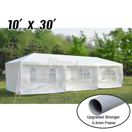 VidaGoods 10'x30'/ 10'x20 White Canopy Party Wedding Outdoor Tent Heavy duty