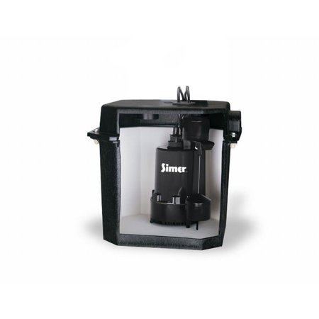 Small Laundry Sink - Simer 2925B-02 Self Contained Above Floor Under Sink Laundry Sink Sump Pump
