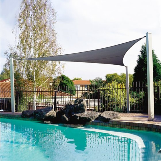 Garden Patio Pool Awning Cover Outdoor Waterproof Sun Shade Sail Chaircover Canopy Sunshade Uv Blocked Beige Fabric Triangle 3 6m 5m