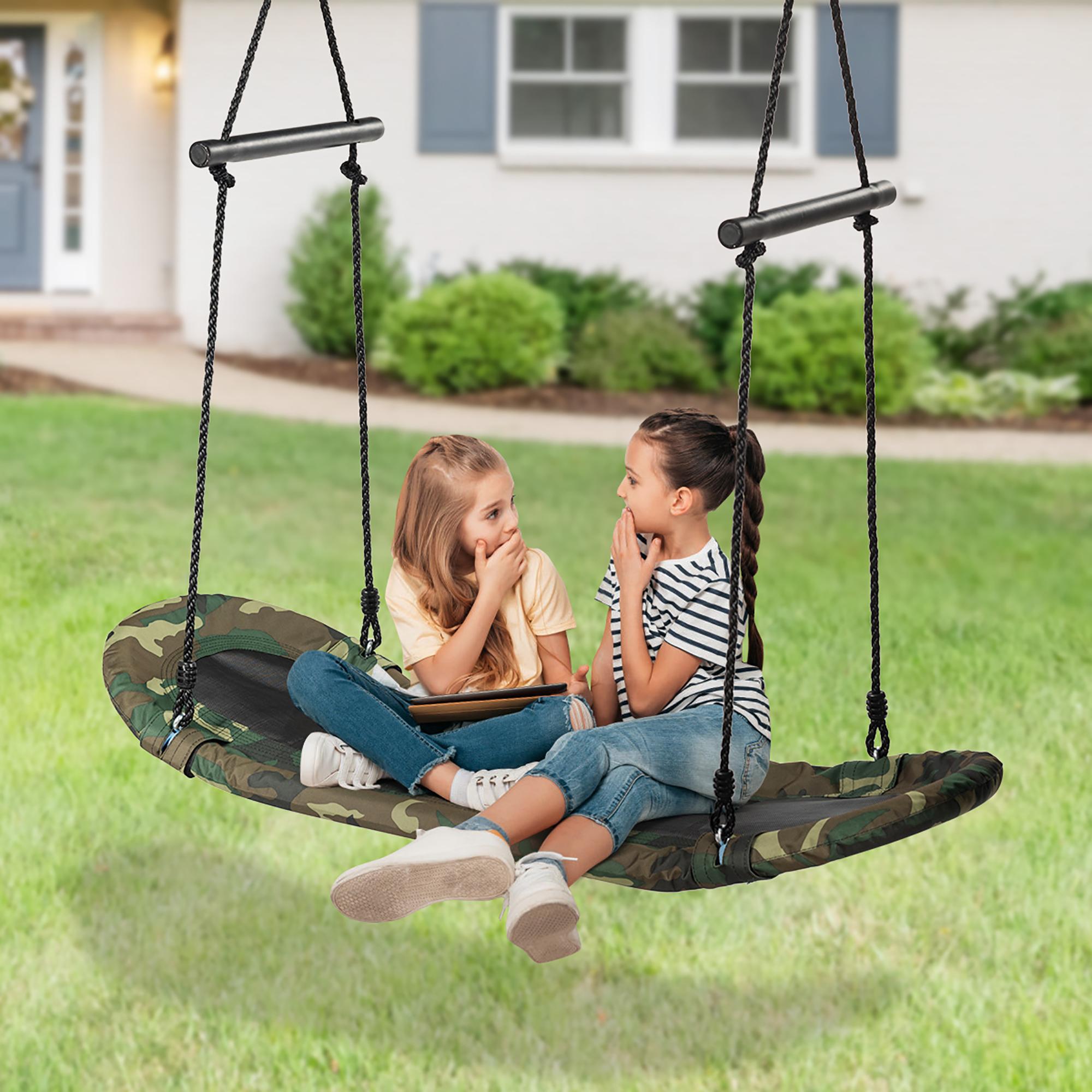Costway Saucer Tree Swing Surf Kids Outdoor Adjustable ...