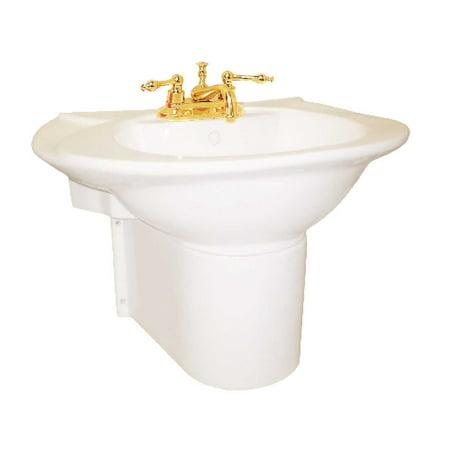 Wall Mount Bathroom Half Pedestal Sink with Bone Basin (Revival Pedestal Sink Basin)