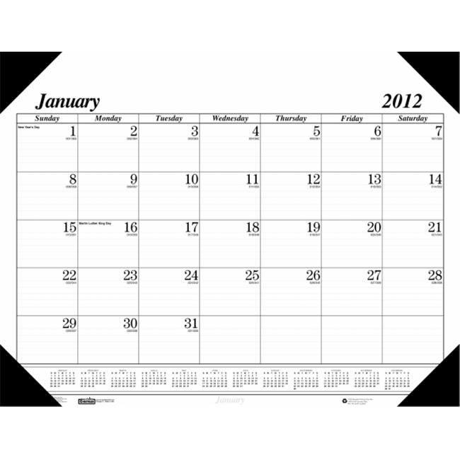 House of Doolittle HOD0124 Economy Compact Desk Calendar
