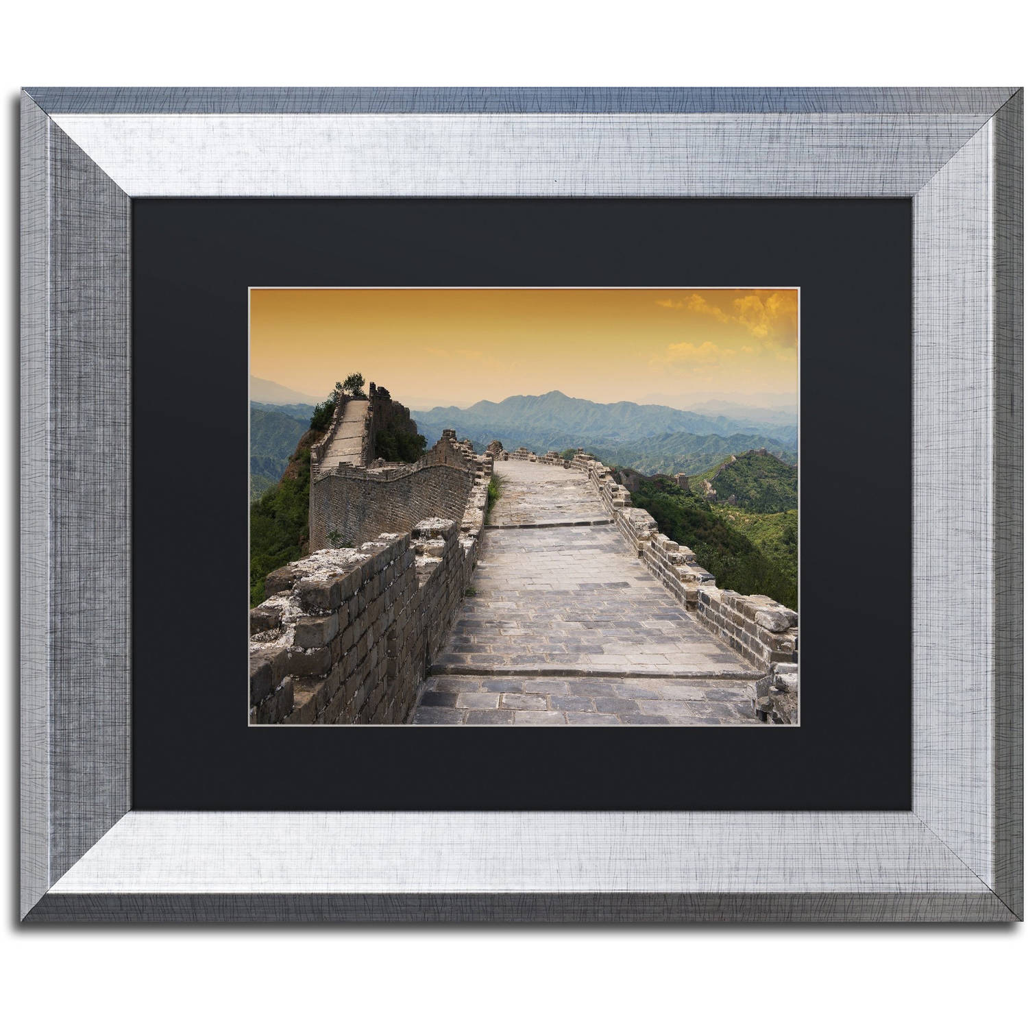 "Trademark Fine Art ""Great Wall VI"" Canvas Art by Philippe Hugonnard, Black Matte, Silver Frame"
