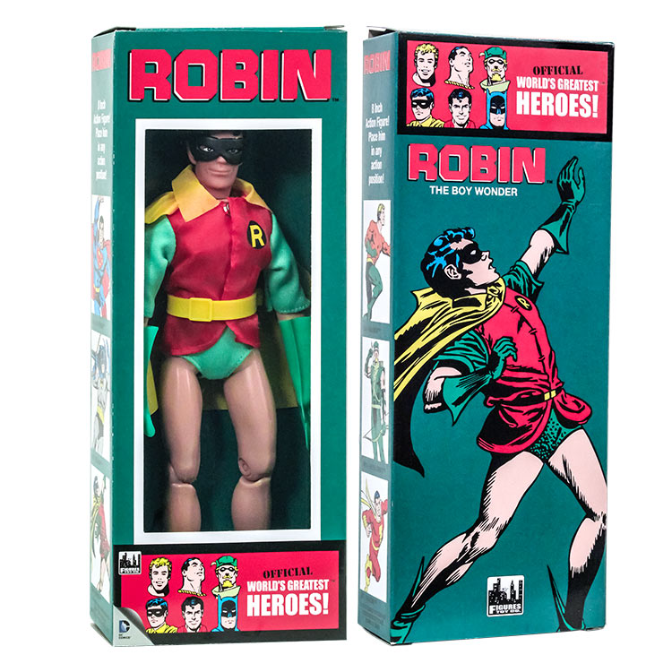 DC Comics Mego Style Boxed 8 Inch Action Figures: Robin (Removable Mask)