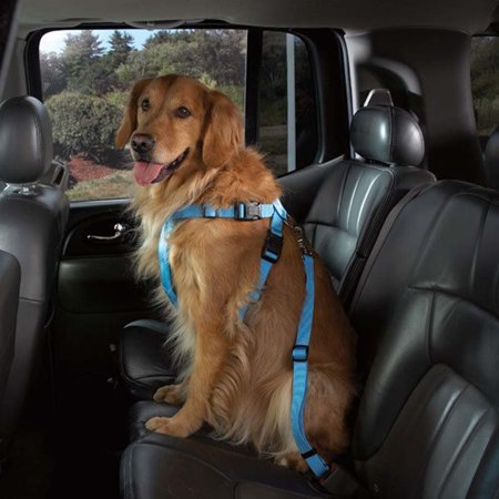 Dog Seat Belt Adjustable Car Harness And Amazing Quality Restraint For Small Large DogsCats Pets Blue