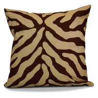 E by Design Flora and Fauna Animal Stripe Detail Print Outdoor Pillow