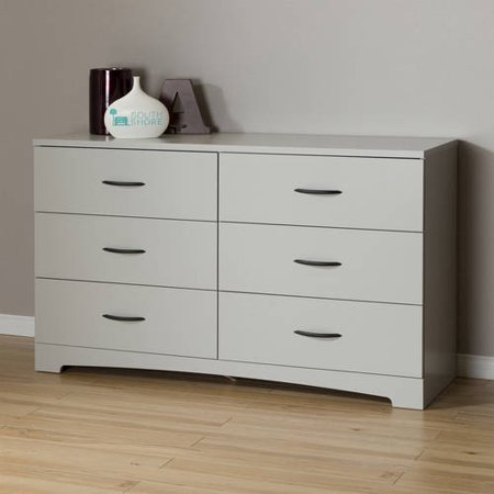 6 Drawer Double Dresser Black Gray Brown White Bedroom Chest Furniture Storage Ebay