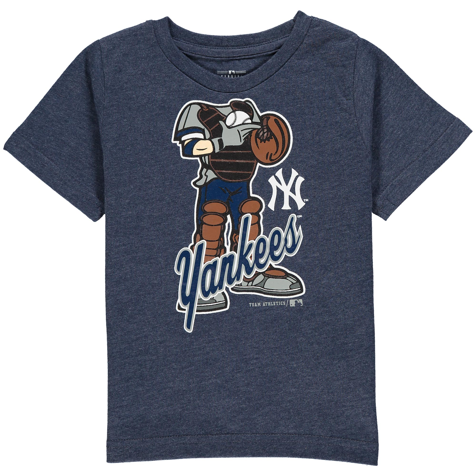 MLB NEW YORK YANKEES TEE Short Sleeve Boys 50% Cotton 50% Poly Team Color 12M-4T