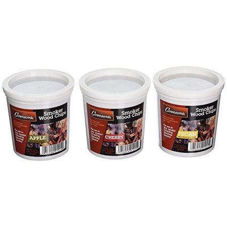 Smoking Pecan Wood - Wood Smoking Chips - Pecan, Apple, and Cherry Wood Chips for Smokers - Set of 3 Resealable Pints