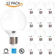 Vanity globe bulbs 12 pack ul energy star listed 6w dimmable g25 led bulb aloadofball Gallery