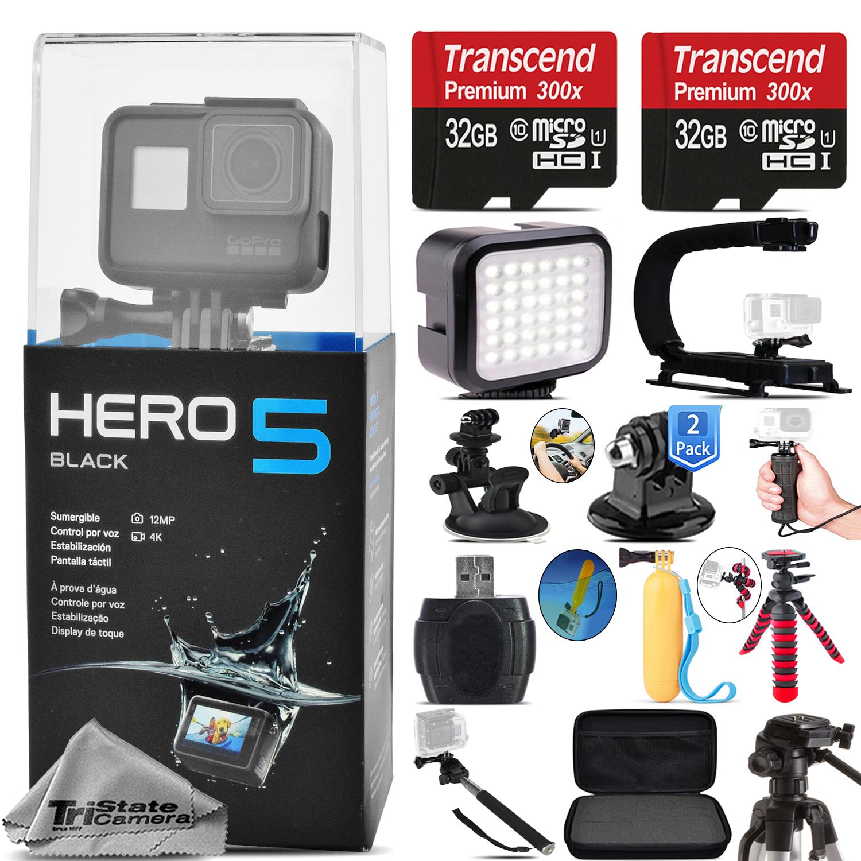 GoPro HERO5 Black Waterproof 4K Action Camera CHDHX-501 +...