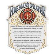 Firefighter Fireman's Prayer 4In Reflective Decal