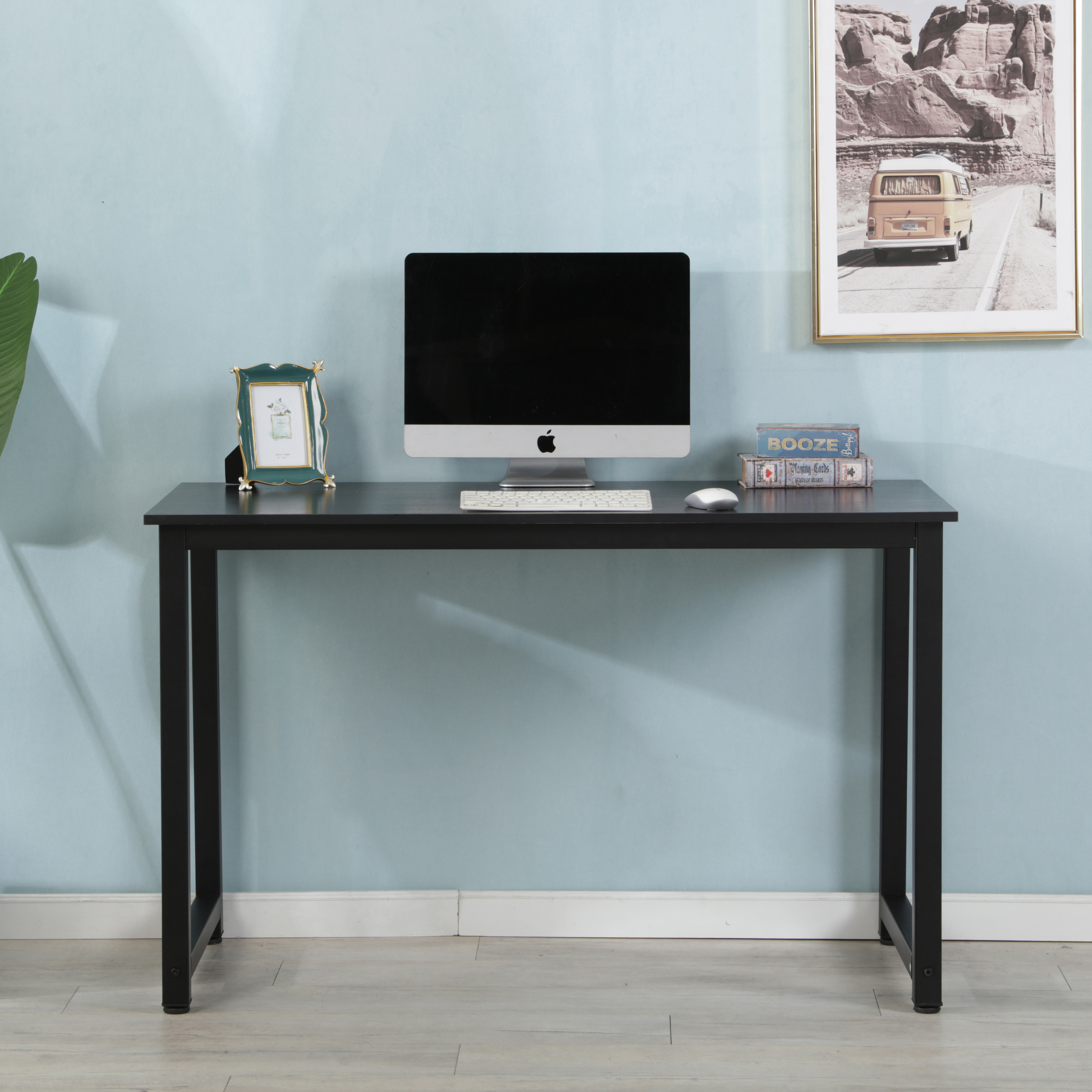 Details about  /Multifunctional Desk Top Laminate Top Office Room Table Top Rectangular Black