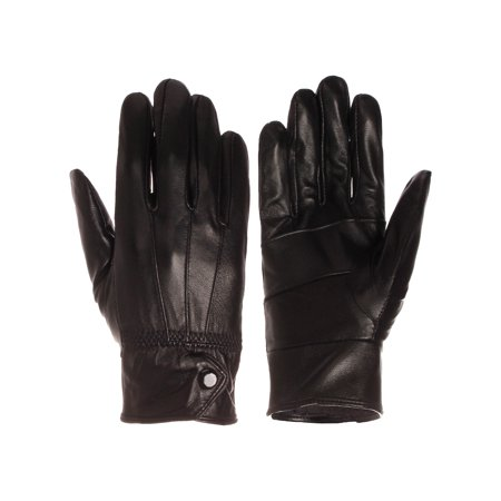 Emmalise Women Lady Genuine Leather Glove Faux Fur Lining Winter Christmas Gift