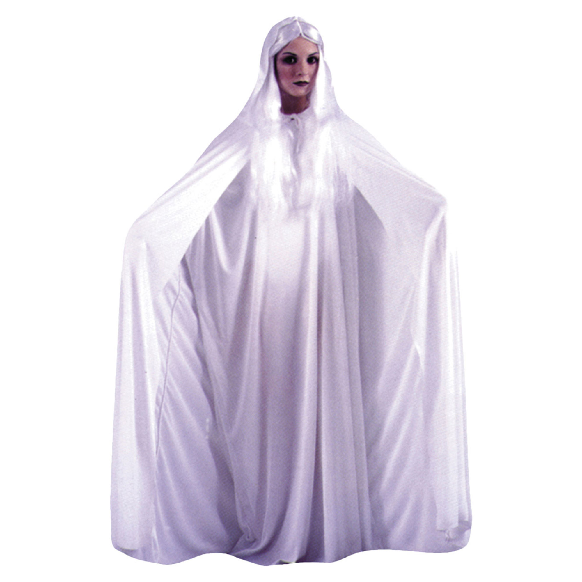 Morris Costumes Womens Cape 68 Inch White Hooded