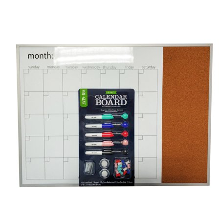 Pen+ Gear 3 in 1 Calendar Board with Aluminum Frame (17