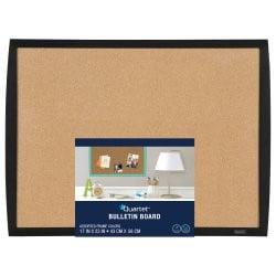 """Quartet Bulletin Board, 17"""" x 23"""", Curved Frame, Black (33271-BK)"""