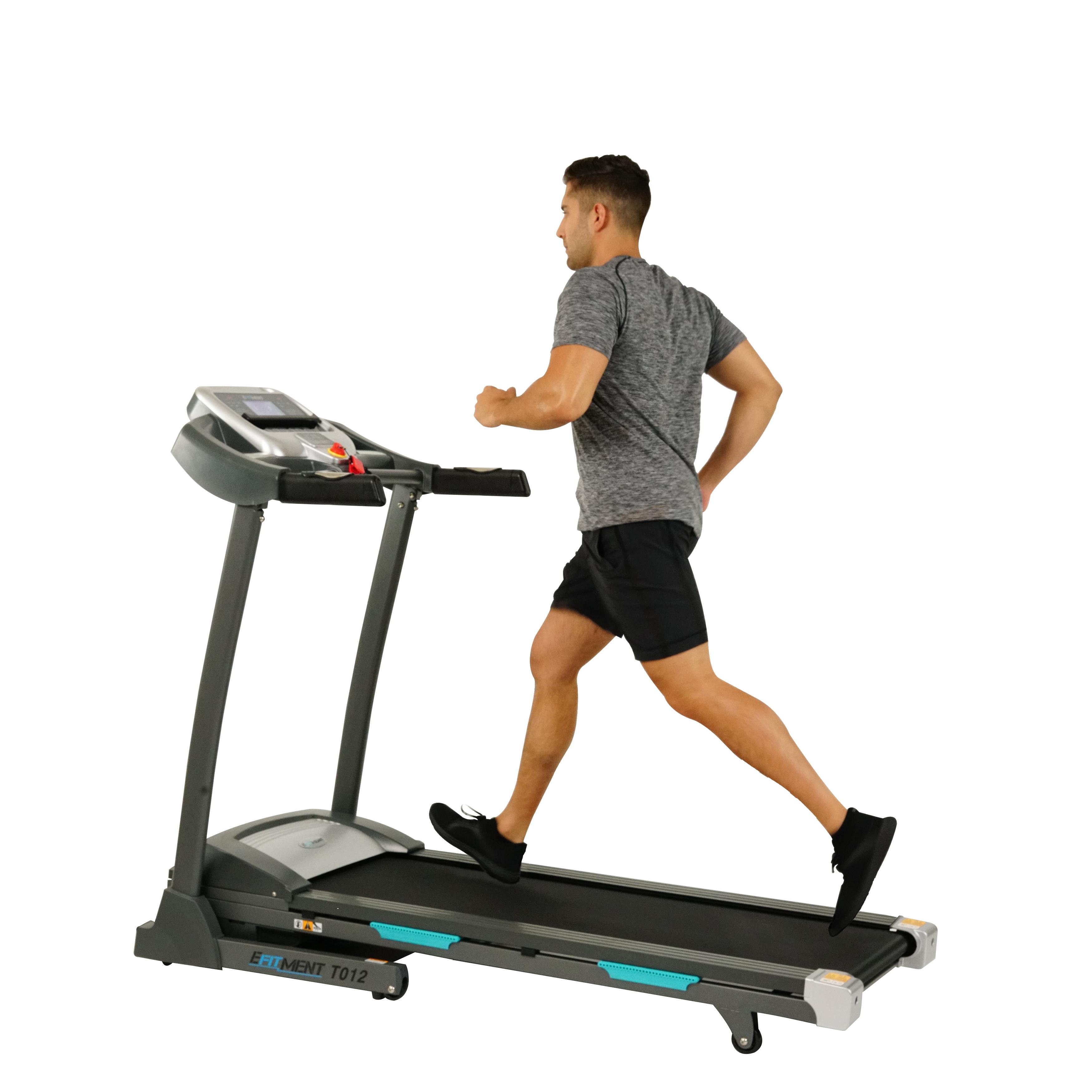 Auto Incline Folding Treadmill w/ Bluetooth by EFITMENT - T012