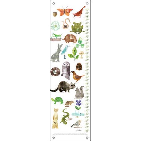 Oopsy Daisy - Forest Friends A to Z Growth Chart 12x42, Maria Carluccio