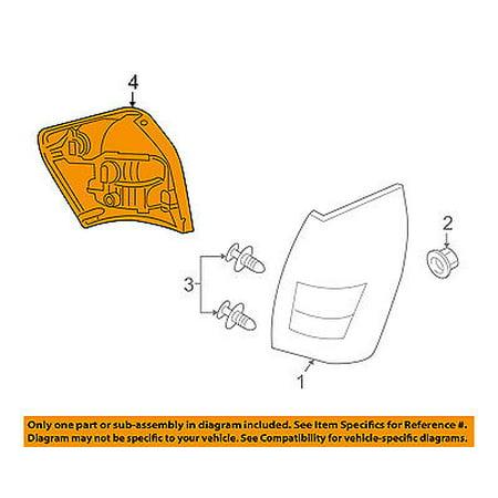 dodge chrysler oem magnum taillight tail light lamp rear-wire harness  5059162aa - walmart com