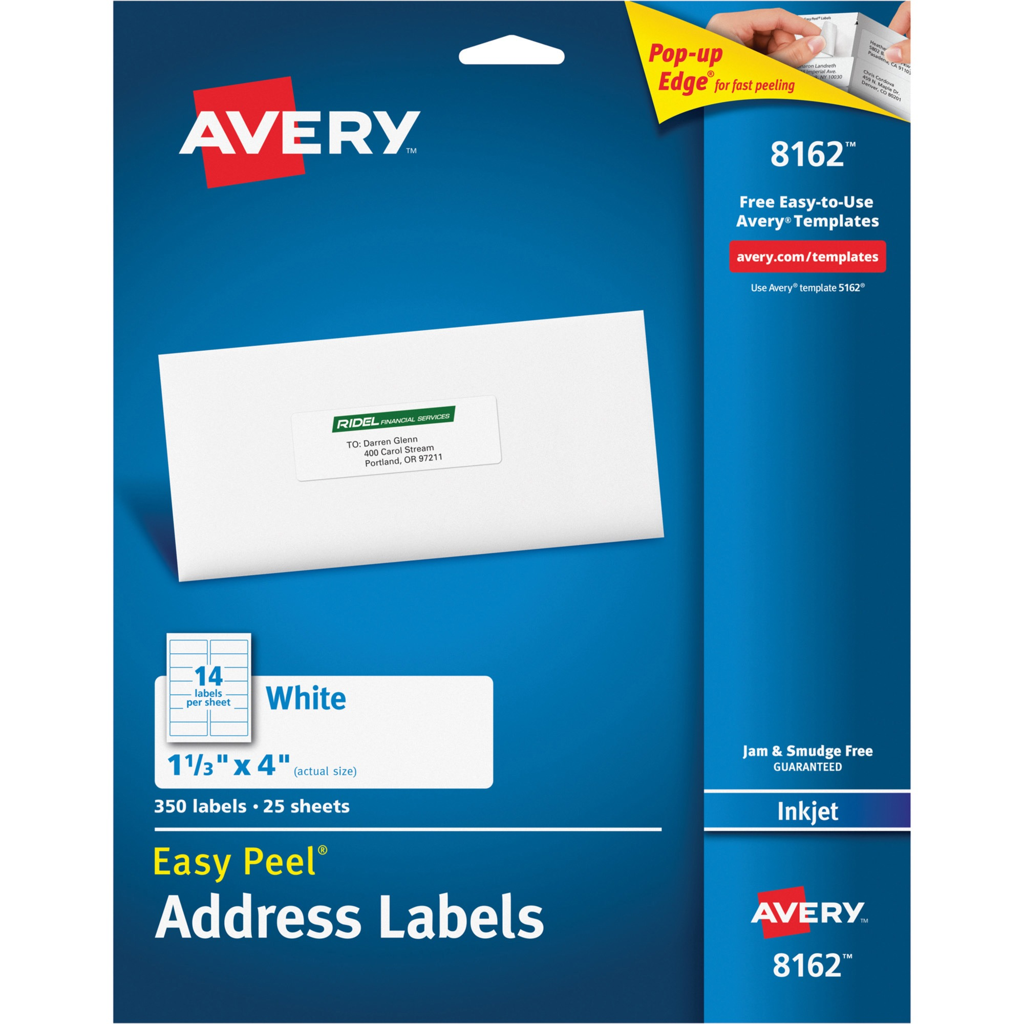 "Avery Dennison Inkjet Labels, Mailing, 1-1/3""X4"", 350/Pack, White ..."